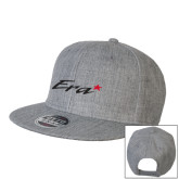 Heather Grey Wool Blend Flat Bill Snapback Hat-Era