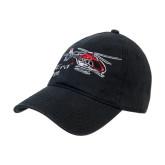 Black Twill Unstructured Low Profile Hat-EC135