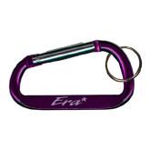 Purple Carabiner with Split Ring-Era Engraved