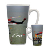Full Color Latte Mug 17oz-Sikorsky S76 Passing Rig in Gulf of Mexico