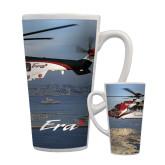 Full Color Latte Mug 17oz-Eurocopter EC 225 Maiden Flight in France