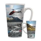 Full Color Latte Mug 17oz-A-Star AS 350 Alaska Flight Seeing Glaciers