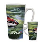 Full Color Latte Mug 17oz-Eurocopter EC 135 Over Louisiana Marshlands