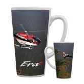 Full Color Latte Mug 17oz-Eurocopter EC 145 Over Louisiana Marshlands