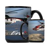 Full Color Black Mug 15oz-Eurocopter EC 225 Maiden Flight in France