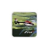 Hardboard Coaster w/Cork Backing 4/set-Eurocopter EC 135 Over Louisiana Marshlands