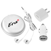 3 in 1 White Audio Travel Kit-Era