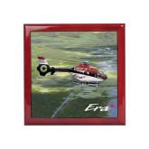 Red Mahogany Accessory Box With 6 x 6 Tile-Eurocopter EC 135 Over Louisiana Marshlands