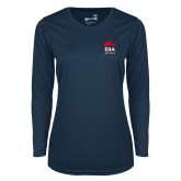 Ladies Syntrel Performance Navy Longsleeve Shirt-ERA