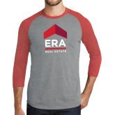 Grey/Red Heather Tri Blend Baseball Raglan-ERA