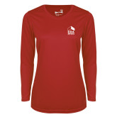 Ladies Syntrel Performance Red Longsleeve Shirt-ERA