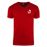 Next Level V Neck Red T Shirt-ERA