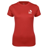 Ladies Syntrel Performance Red Tee-ERA