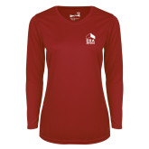 Ladies Syntrel Performance Cardinal Longsleeve Shirt-ERA