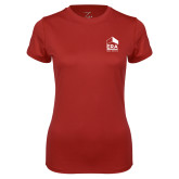 Ladies Syntrel Performance Cardinal Tee-ERA