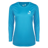 Ladies Syntrel Performance Light Blue Longsleeve Shirt-ERA
