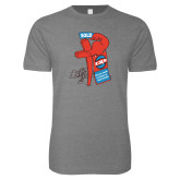 Next Level SoftStyle Heather Grey T Shirt-Vintage ERA Muscle Sold Sign