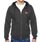 Charcoal Fleece Full Zip Hoodie-ERA