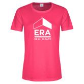 Ladies Performance Hot Pink Tee-ERA