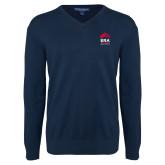 Classic Mens V Neck Navy Sweater-ERA