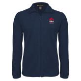 Fleece Full Zip Navy Jacket-ERA