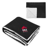 Super Soft Luxurious Black Sherpa Throw Blanket-ERA