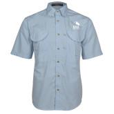 Light Blue Short Sleeve Performance Fishing Shirt-ERA