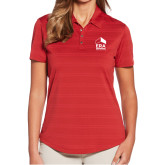 Ladies Callaway Horizontal Textured Deep Red Polo-ERA