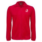 Fleece Full Zip Red Jacket-ERA
