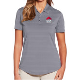 Ladies Callaway Horizontal Textured Steel Grey Polo-ERA