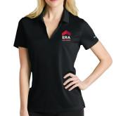 Ladies Nike Golf Dri Fit Black Micro Pique Polo-ERA