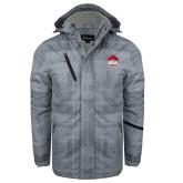 Grey Brushstroke Print Insulated Jacket-ERA