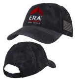 Kryptek Typhon Black U.S. Flag Hat-ERA