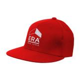 Red OttoFlex Flat Bill Pro Style Hat-ERA