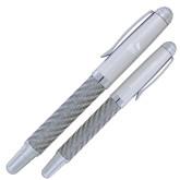 Carbon Fiber Silver Rollerball Pen-ERA Engraved