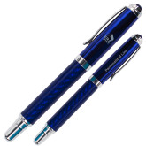 Carbon Fiber Blue Rollerball Pen-ERA Engraved