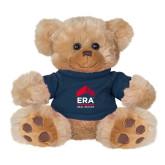 Plush Big Paw 8 1/2 inch Brown Bear w/Navy Shirt-ERA