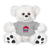 Plush Big Paw 8 1/2 inch White Bear w/Grey Shirt-ERA