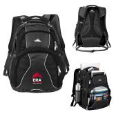 High Sierra Swerve Black Compu Backpack-ERA