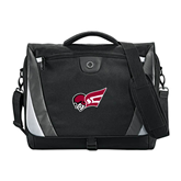 Slope Black/Grey Compu Messenger Bag-Flying Fleet Head