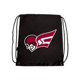 Black Drawstring Backpack-Flying Fleet Head