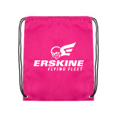 Pink Drawstring Backpack-Erskine Flying Fleet Stacked