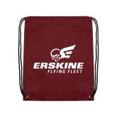 Maroon Drawstring Backpack-Erskine Flying Fleet Stacked
