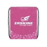 Nylon Pink Bubble Patterned Drawstring Backpack-Erskine Flying Fleet Stacked