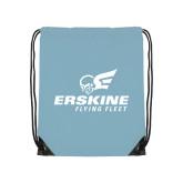 Light Blue Drawstring Backpack-Erskine Flying Fleet Stacked