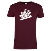 Ladies Maroon T Shirt-Flying Fleet