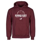 Maroon Fleece Hoodie-Flying FleVolleyball