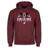 Maroon Fleece Hoodie-Erskine Football