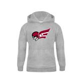 Youth Grey Fleece Hood-Flying Fleet Head
