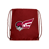 Cardinal Drawstring Backpack-Flying Fleet Head